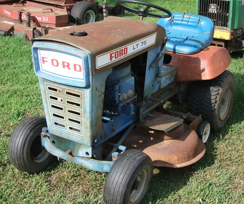 vintage ford lt 75 lawn tractor riding mower runs works ford [ 1000 x 837 Pixel ]