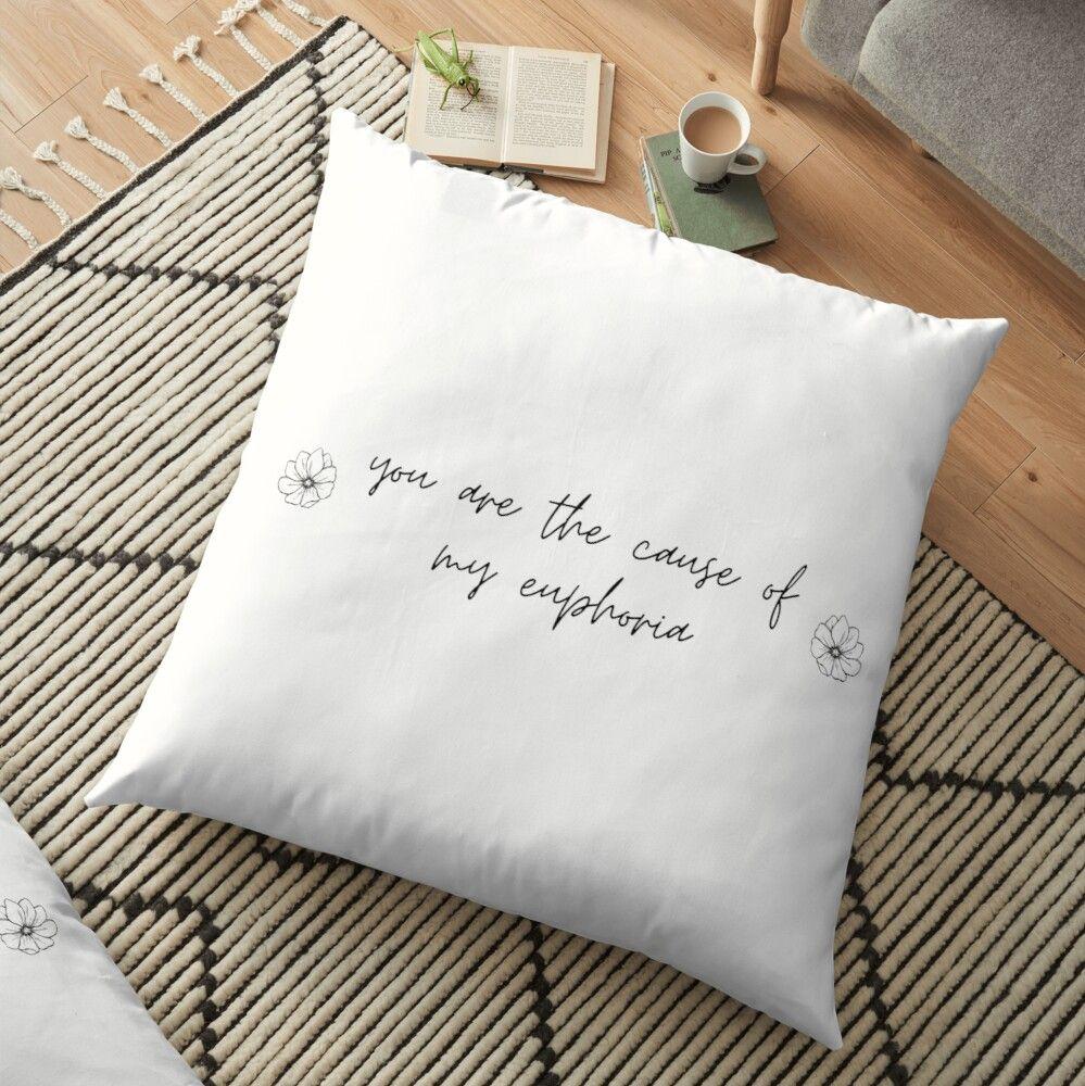 Bts Euphoria Jungkook Lyrics Floor Pillow By Serendipitousmt Floor Pillows Pillows The Best Is Yet To Come