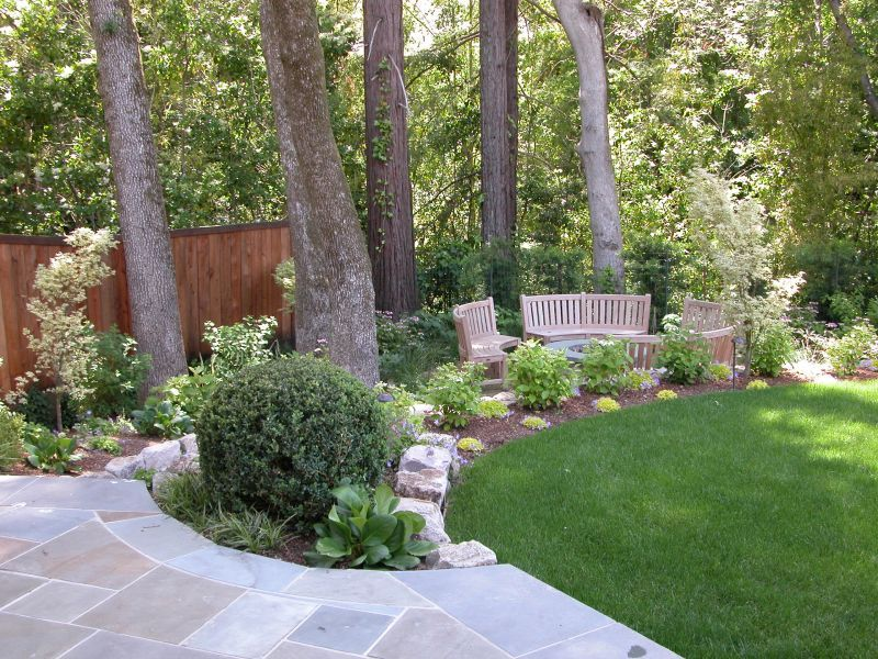 Flower Garden Ideas Around Tree flower garden idea for around tree | bluestone walk leads down to