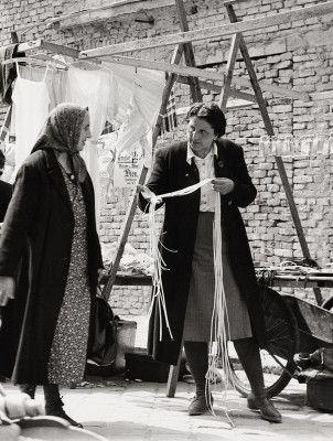 Am Brunnenmarkt in Wien XVI. , Ottakring. Photographie. 1951