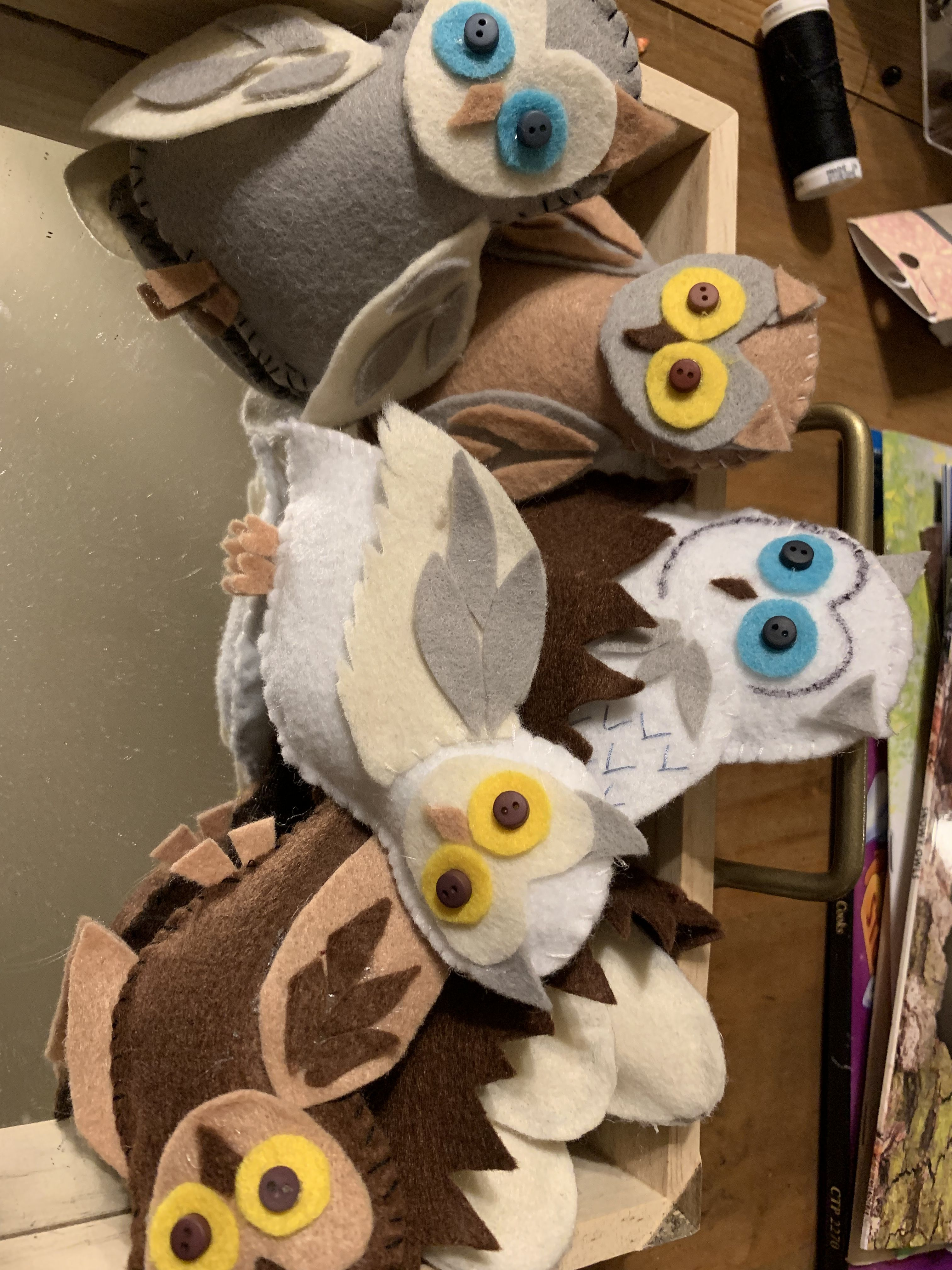 Felt Owls I Created For An Upcoming Project So Fun