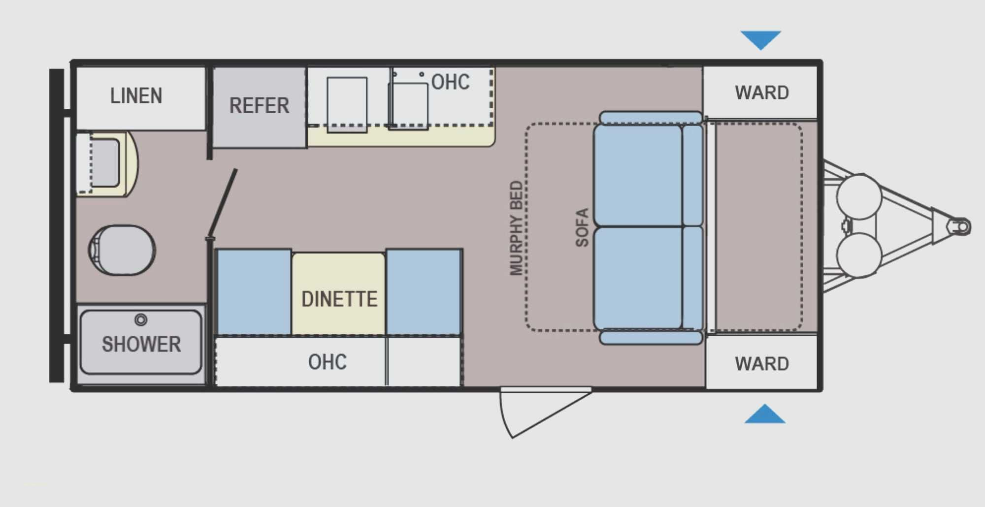 Cargo Trailer Camper Conversion Floor Plans Luxury Cargo Trailer