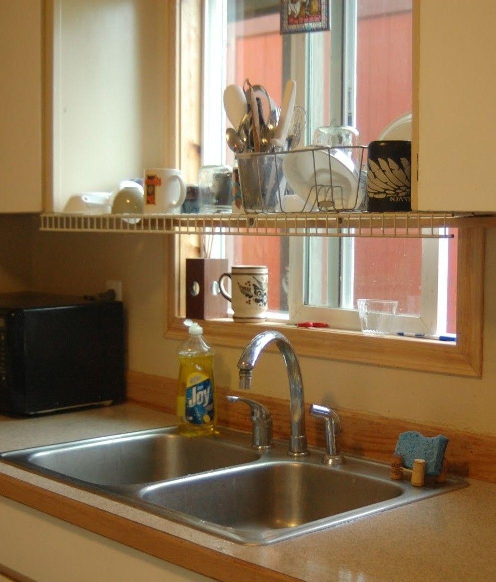 diy kitchen storage sink dish rack