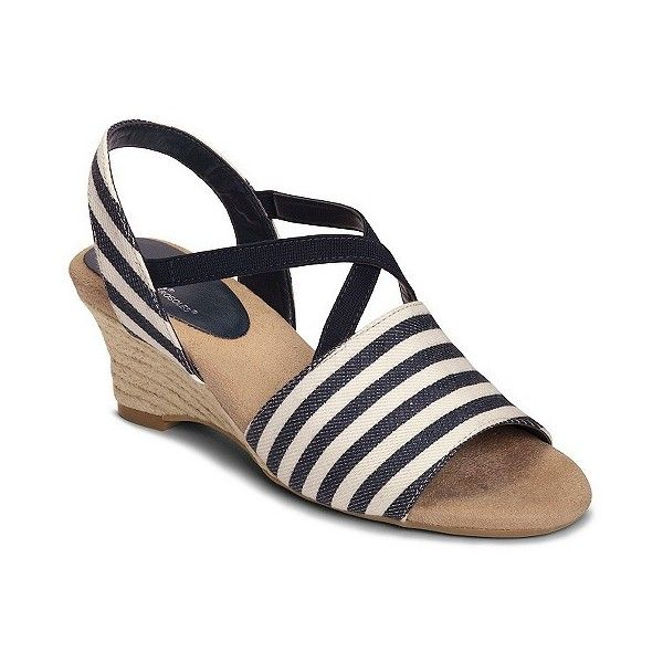 Womens Sandals Aerosoles Boyzenberry Navy Stripe