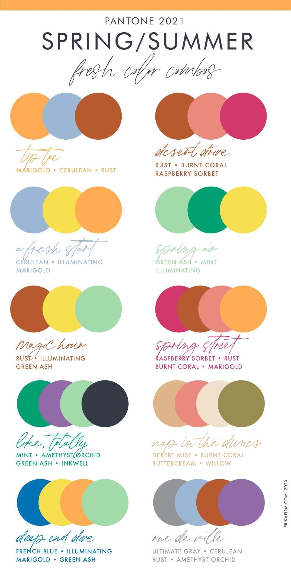 Spring Summer 7 Pantone Color Trends  Summer color trends