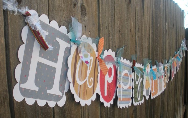 diy banner ideas | DIY birthday banner