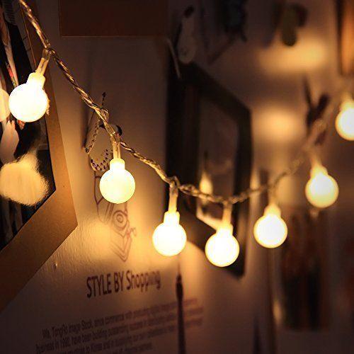 innoo tech guirlande lumineuses boules 10 m tres 100 leds blanc chaud d coration pour nouvel. Black Bedroom Furniture Sets. Home Design Ideas