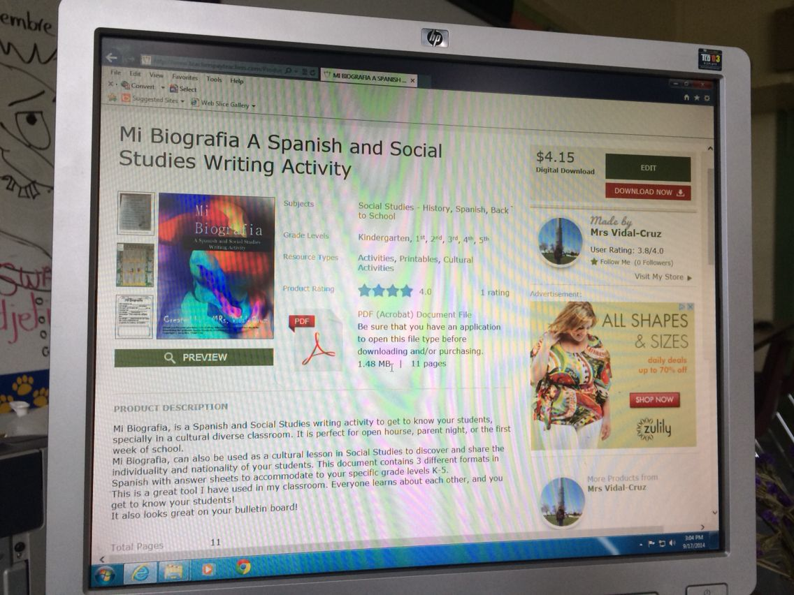 Mi Biografia-Spanish and Social Studies writing activity. Find it at www.teacherspayteachers. com/store/Mrs. Vidal-Cruz
