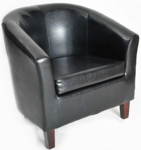 New Faux Leather Tub Chairs Luxury Bucket Armchair Office