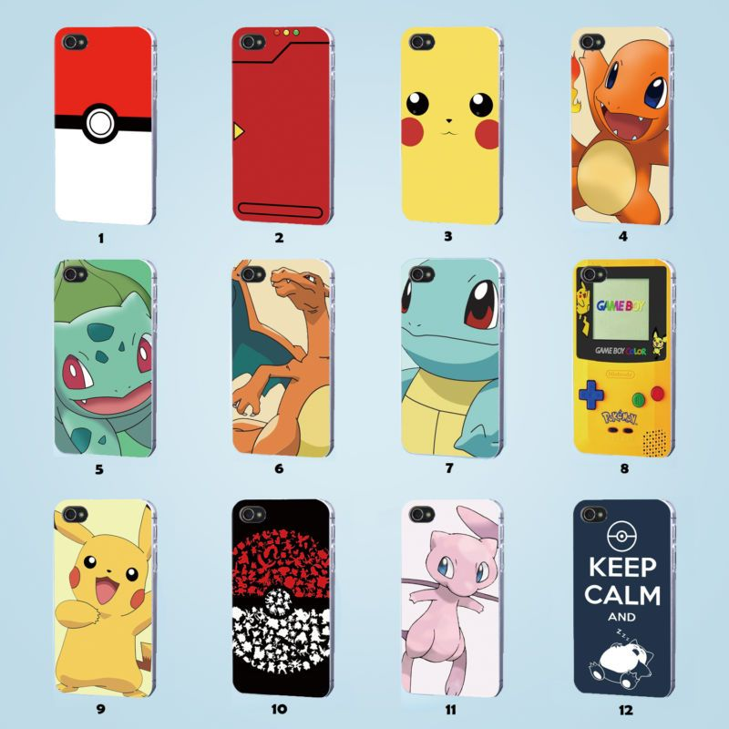 pokemon case iphone 4s 5 5s 5c 6 6s se plus samsung galaxy. Black Bedroom Furniture Sets. Home Design Ideas