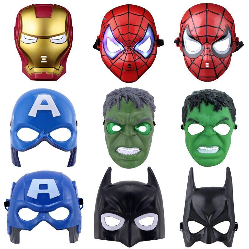 Men Kids Boy Super Hero Spiderman LED lighting Halloween Party Costume Face Mask