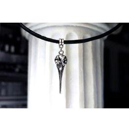 Gothic Real Leather Choker Necklace Metal Bird's Beak Pendant Birthday Gift
