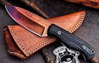 CFK USA Custom Handmade Color Patina Twist Damascus Hunter Skinner Knife Knives