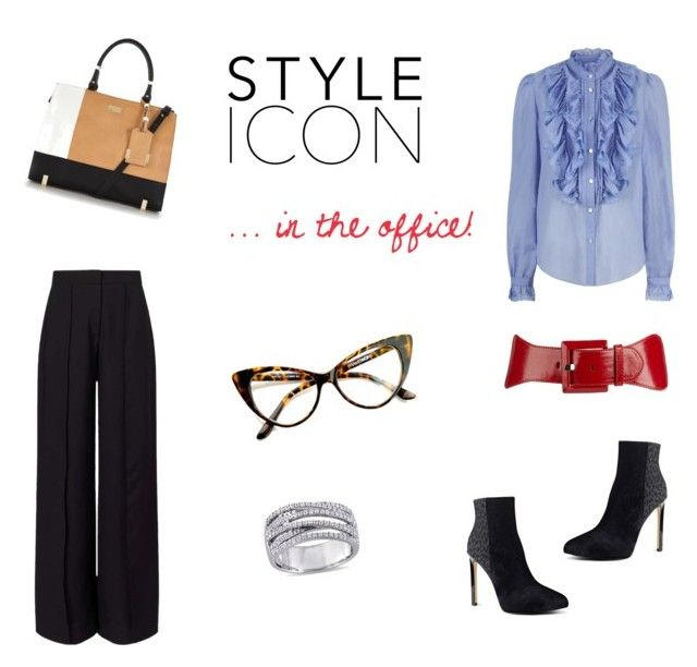 """""""Style icon... in the office!!"""" by tinita-sjm on Polyvore featuring Miss Selfridge, Temperley London, Nine West, Apt. 9 and LYDC"""