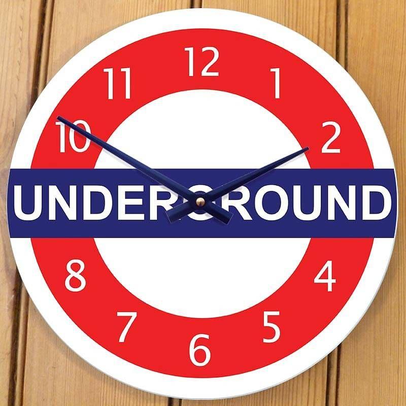 Funda Nordica Underground.London Underground Clock For The Home London Bedroom Themes