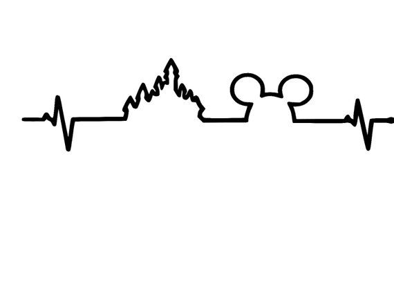 Disney Heartbeat Mickey Castle Vinyl Car Decal Sticker
