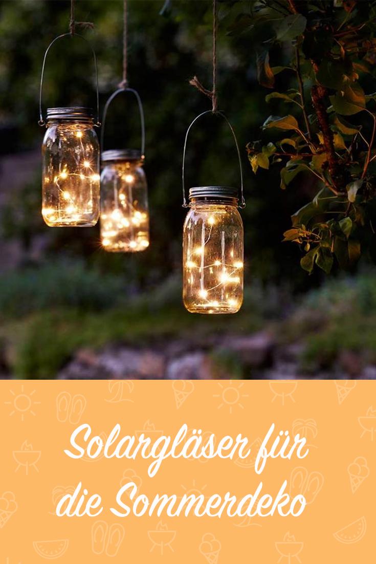 Solarglas Mit Lichtsensor Lichterkette Draussen Solar Lichterkette Lampen Garten