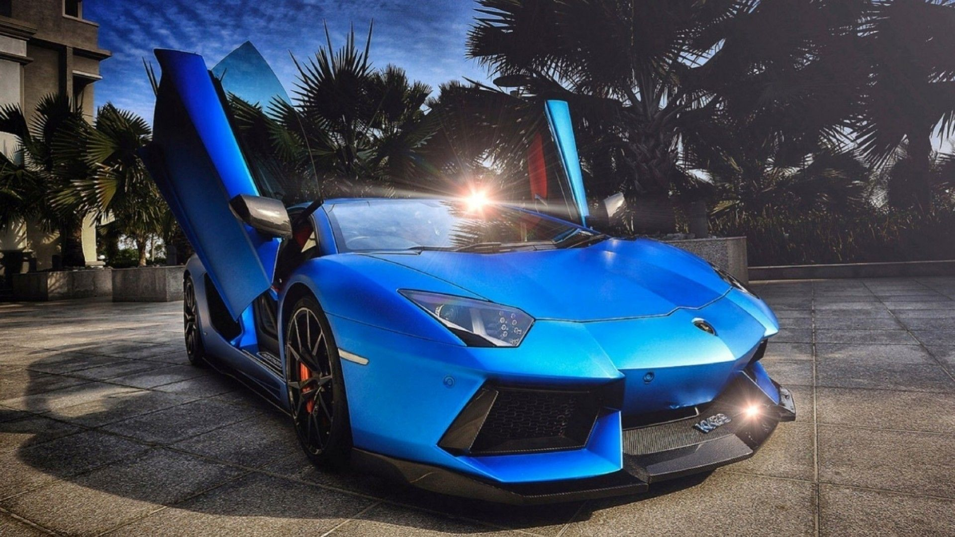 1920x1080 1144 Blue Lamborghini Aventador Wallpaper Cars