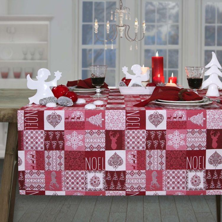weihnachtstischdecken von sander tischdecke noel in drei farben und vielen gr en in unserem. Black Bedroom Furniture Sets. Home Design Ideas