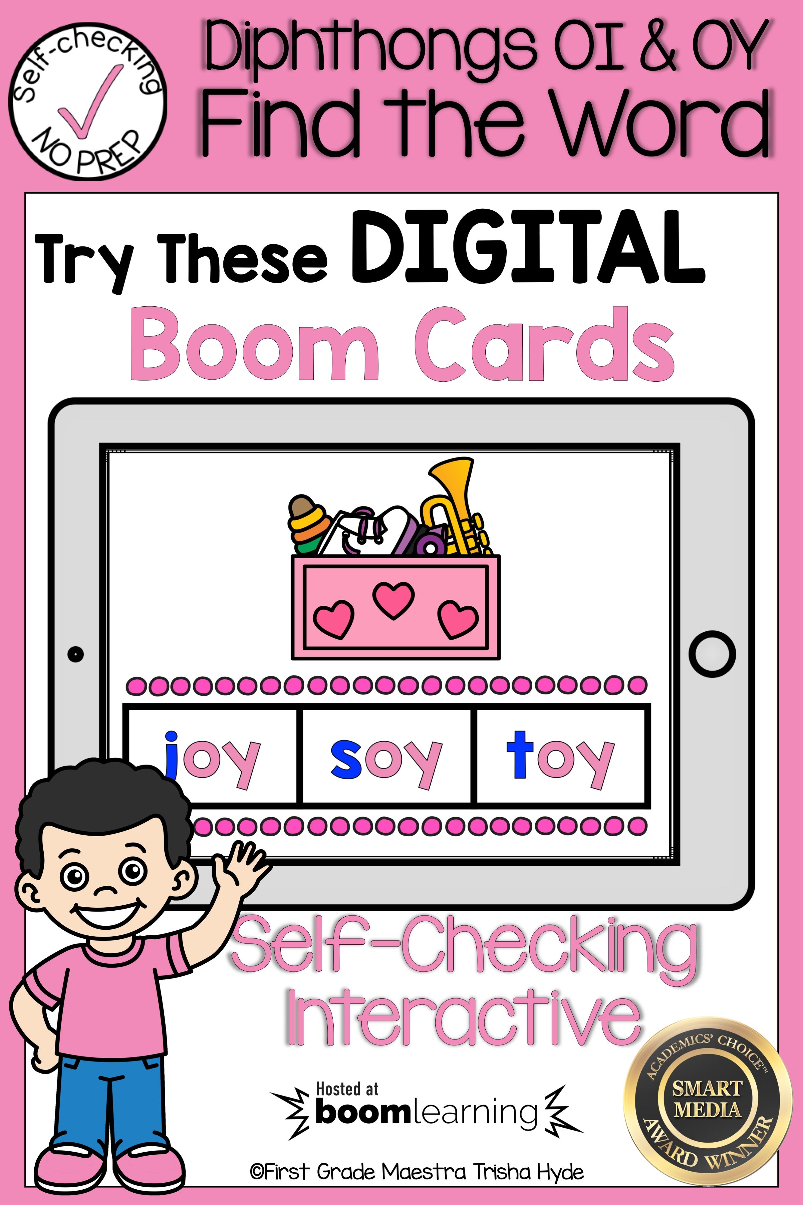 Boom Cards Diphthongs Oi And Oy Find The Word