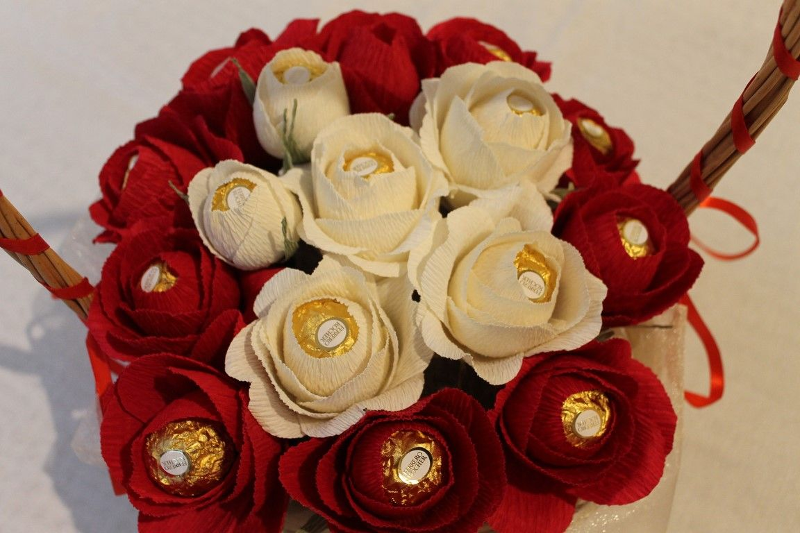 Beautiful Chocolate Bouquet Ferrero Rocher Bouquets Pinterest
