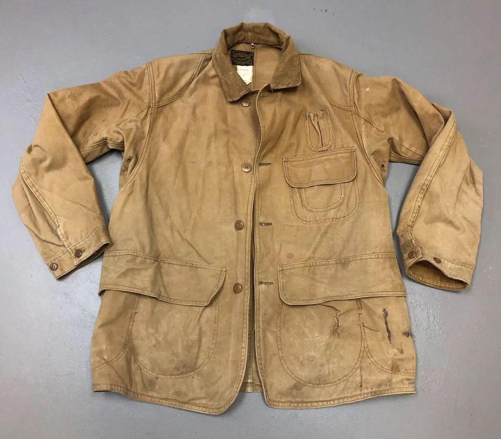 5726c3eff0476 Vintage 1910s/1920s Drybak Antique Duck Hunting Sportsman Coat Button Up  size 40 | eBay