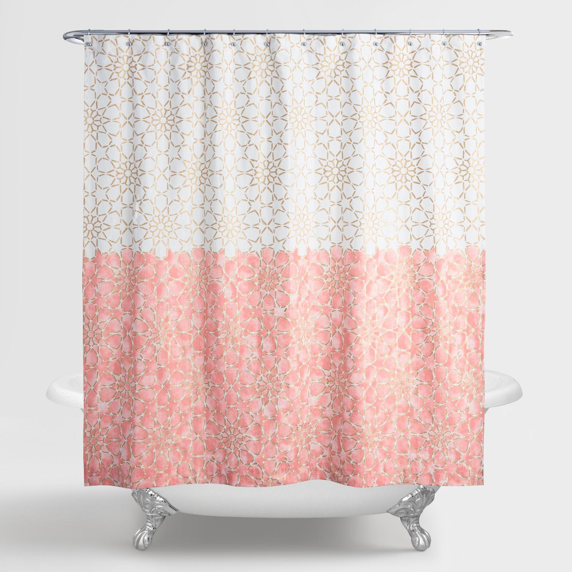 Gold And Terracotta Ombre Samira Shower Curtain Gardiner