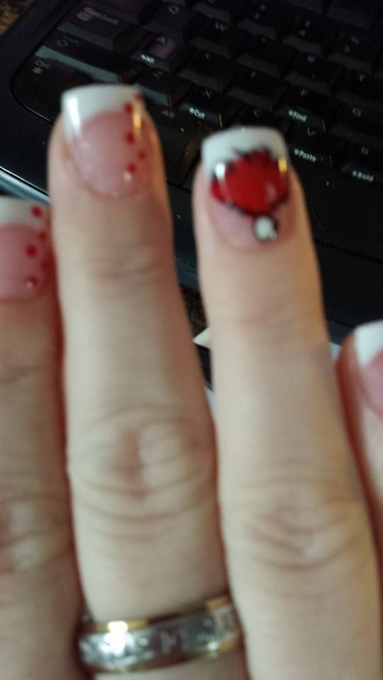 Santa's Hat!  Nails by Natale... Stacy & Co in Jacksonville, NC