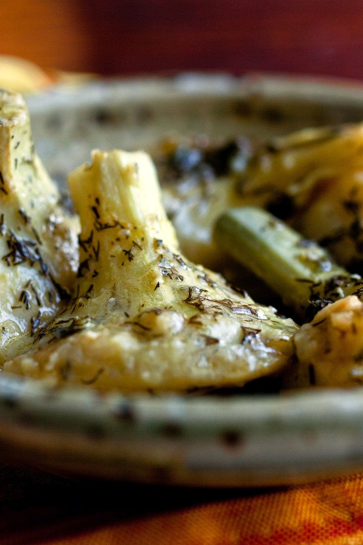 Braised Greek Artichoke Bottoms With Lemon And Olive Oil Recipe Recipe Recipes Passover Recipes Nyt Cooking