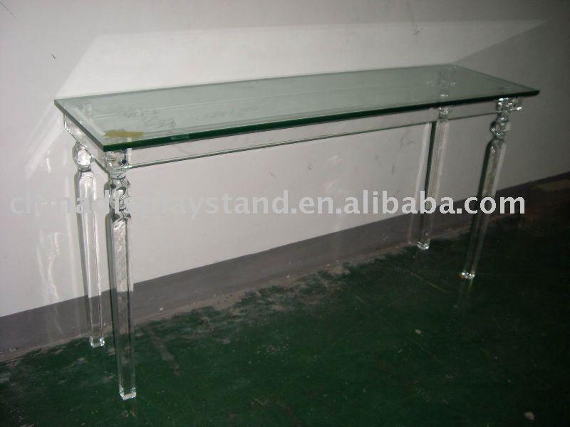 Superior Lucite Console Table