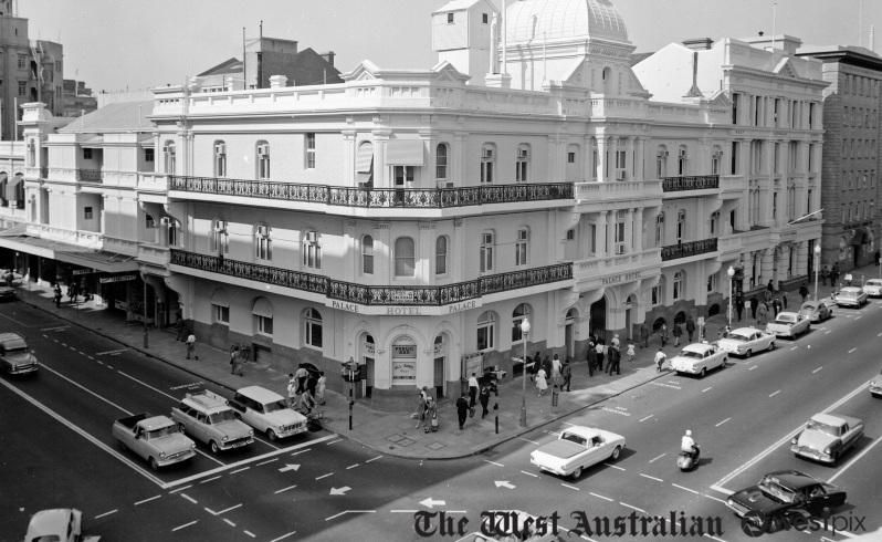 The Palace Hotel On Corner Of St Georges Terrace And William Street In Perth