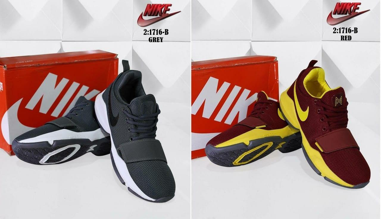 Sepatu Merek Nike Seri 1716 B Kualitas Semprem Warna Grey Red