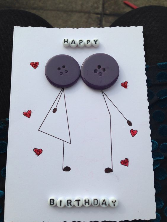 Handmade Birthday Card For Husband Happy Birthday To A Wonderful