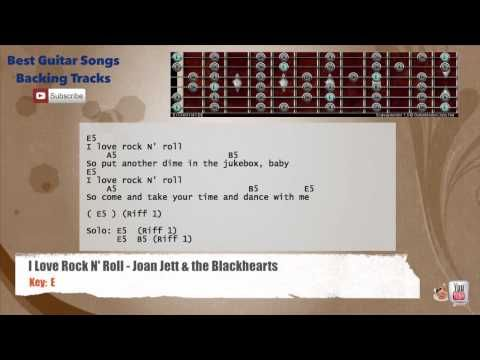 I Love Rock N Roll Joan Jett The Blackhearts Backing Track With