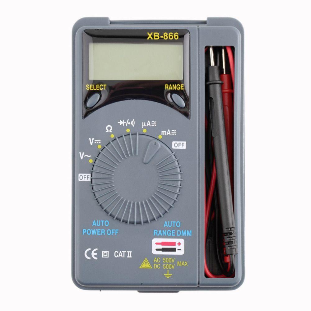 1Pc Wholesale Mini Auto Range LCD Voltmeter Tester Tool AC/DC Pocket  Digital Multimeter Hot Sale #Affiliate