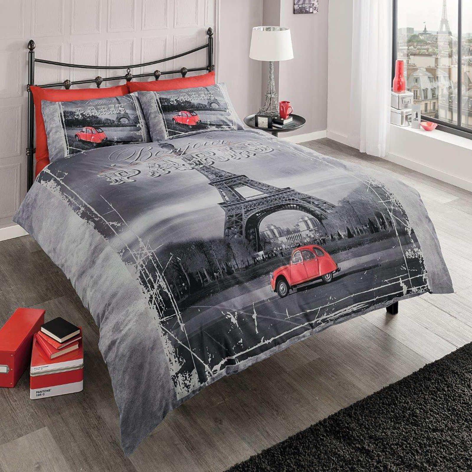Paris Eiffel Tower Reversible Comforter Set With Images Paris