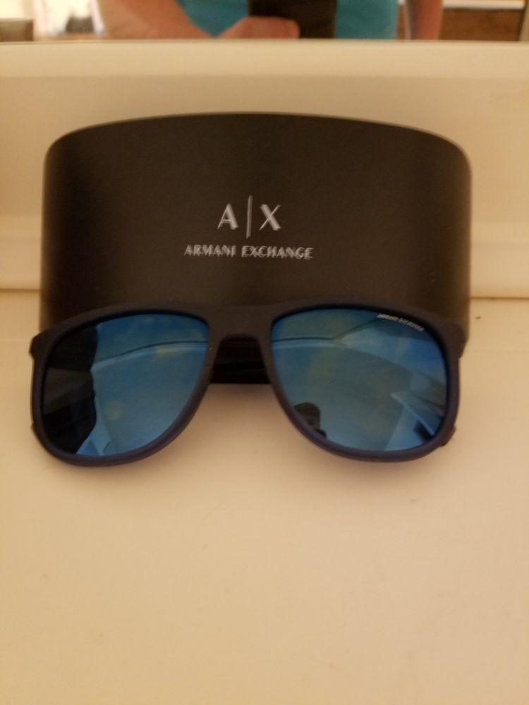 31ba439494a Armani Exchange AX Mens Pilot Sunglasses Blue Frame Black Smoked Lenses  60mm  fashion  clothing  shoes  accessories  mensaccessories ...