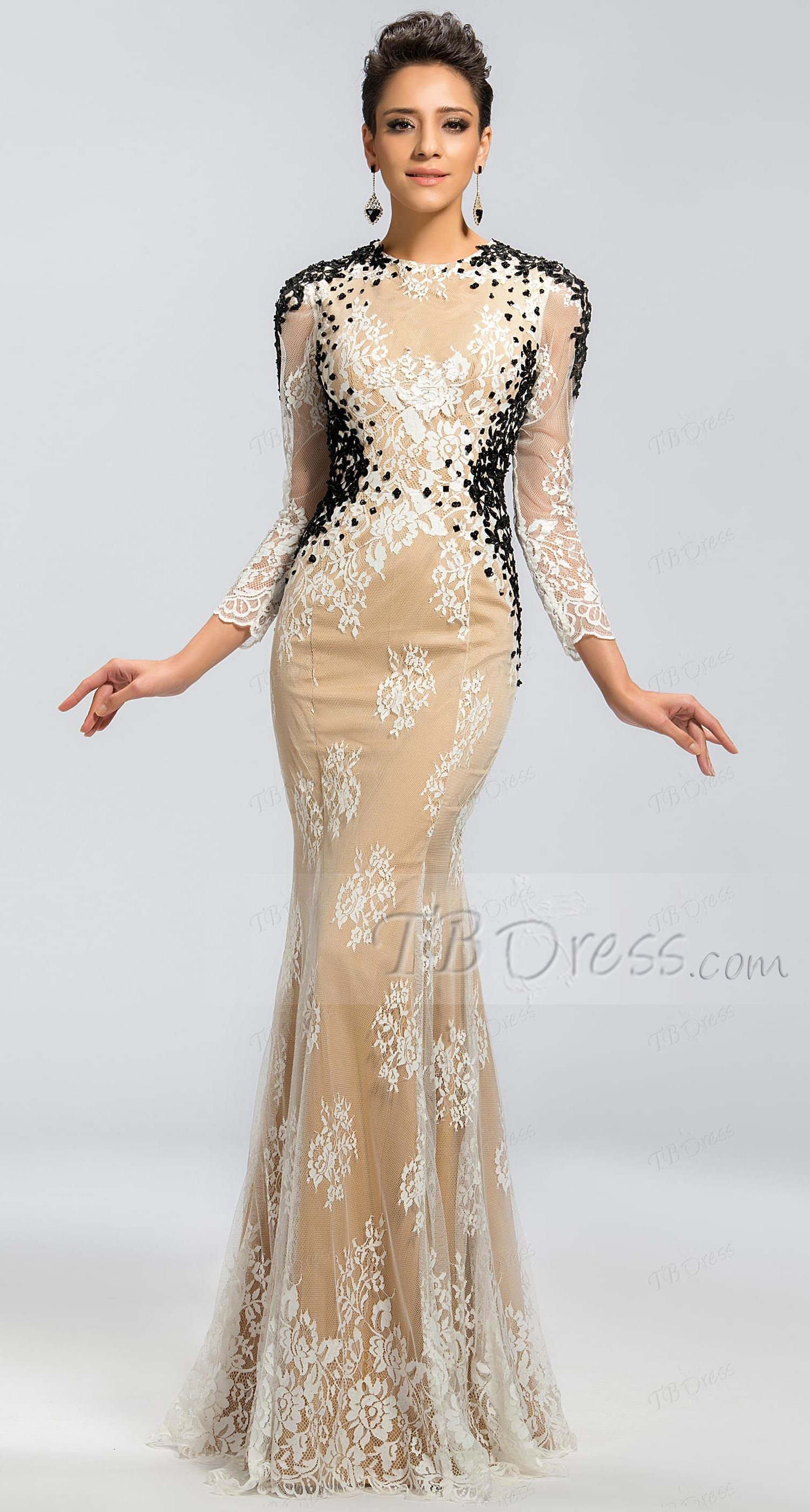Lace backless mermaid mother of the bride dress in couture