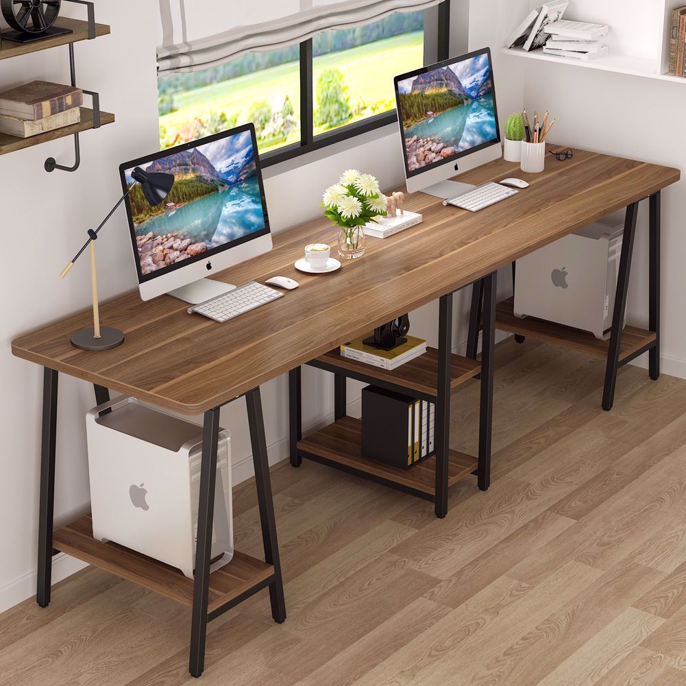 Choosing The Right Two Person Desk For Your Office Or Home Office Can Be Pretty Challenging But Tribe In 2020 Home Office Design Desk In Living Room Home Office Desks