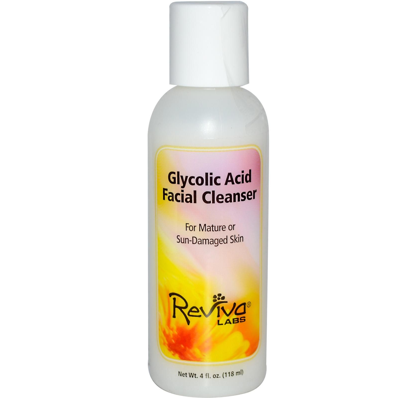 Reviva Labs, Glycolic Acid Facial Cleanser, 4 fl oz (118 ml) - iHerb.com