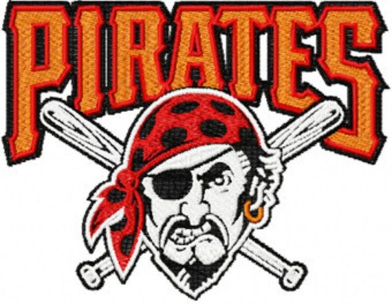 photo of pittsburgh pirates logo machine embroidery design in 4 rh pinterest com pittsburgh pirates logo pics