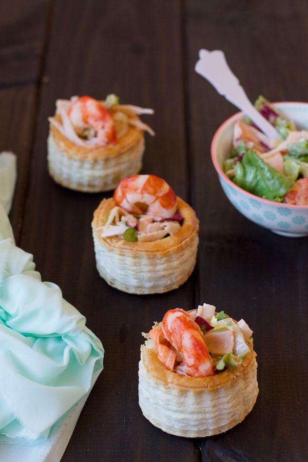 C ctel de marisco en volovanes ensaladas y aperitivos - Cocina navidena espanola ...