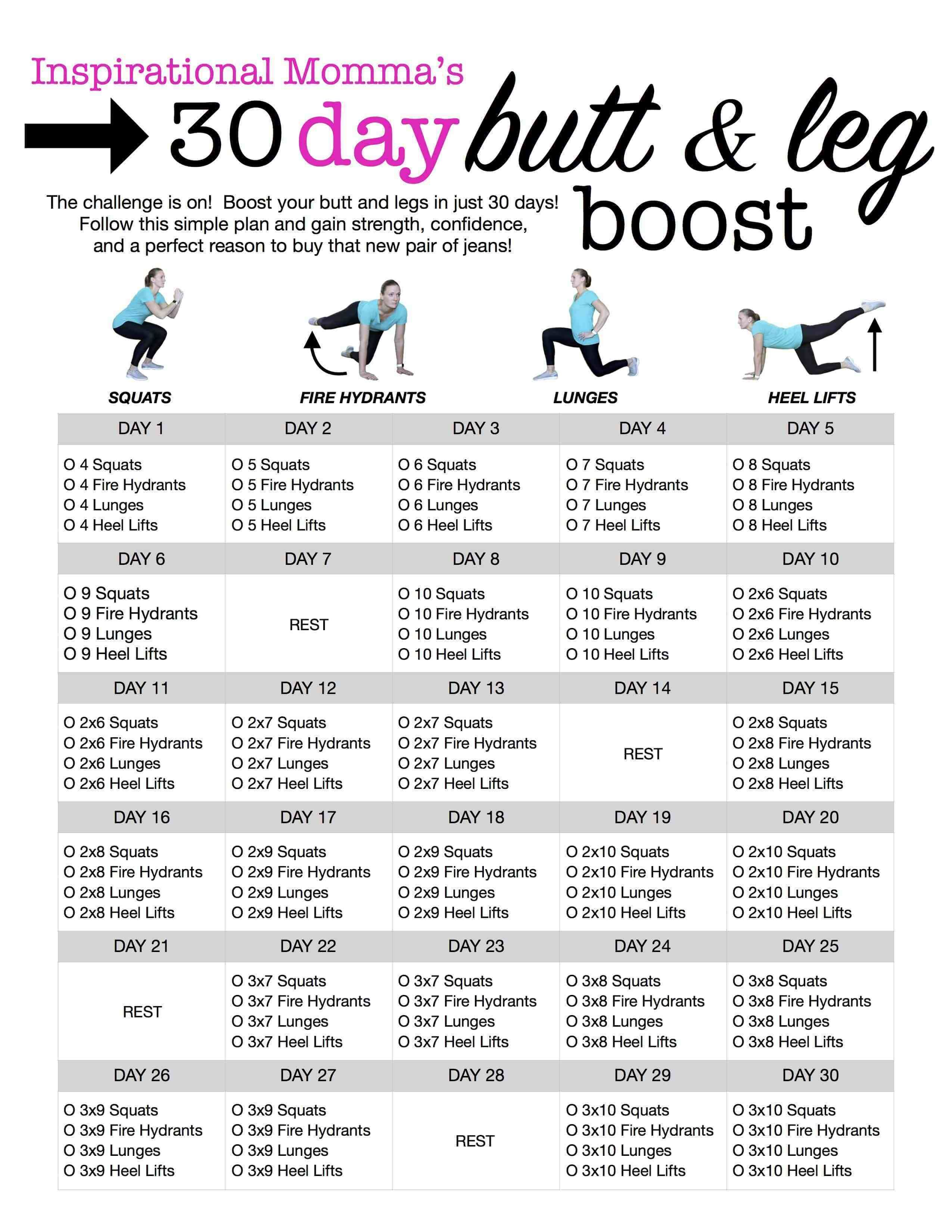 30-Day Butt & Leg Boost Challenge