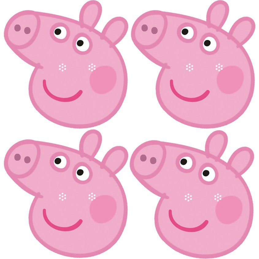 Peppa Pig Fun Face Masks Party Delights Peppa Pig Party Decorations Peppa Pig Birthday Party Peppa Pig Party