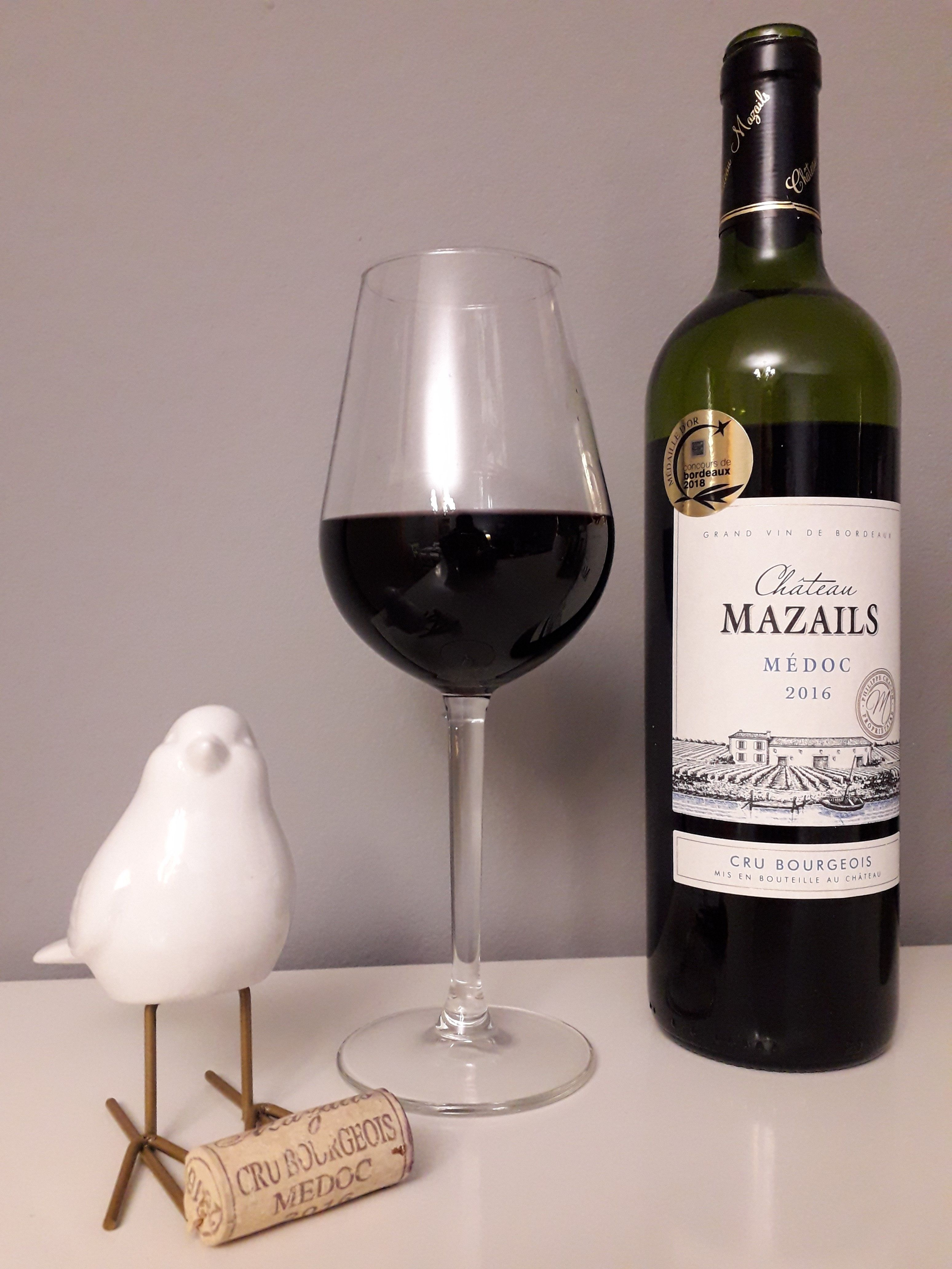 Château Mazails Cru Bourgeois 2016 Vinos Franceses Vinos Merlot