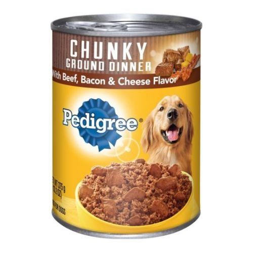 Pedigree Meaty Ground Dinner With Chunky Beef Bacon And Cheese Dog