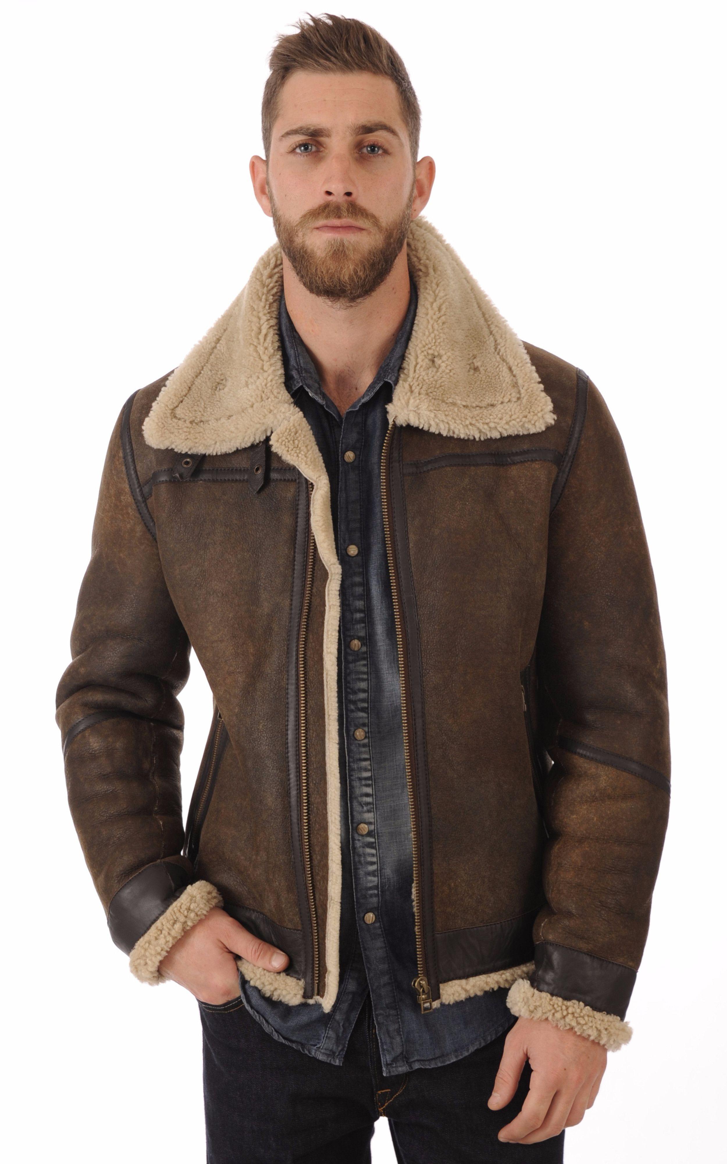 Blouson Bombardier Mouton Vieilli Homme Goosecraft Stylish Mens Fashion,  Latest Mens Fashion, Men Fashion c88b8d1d747