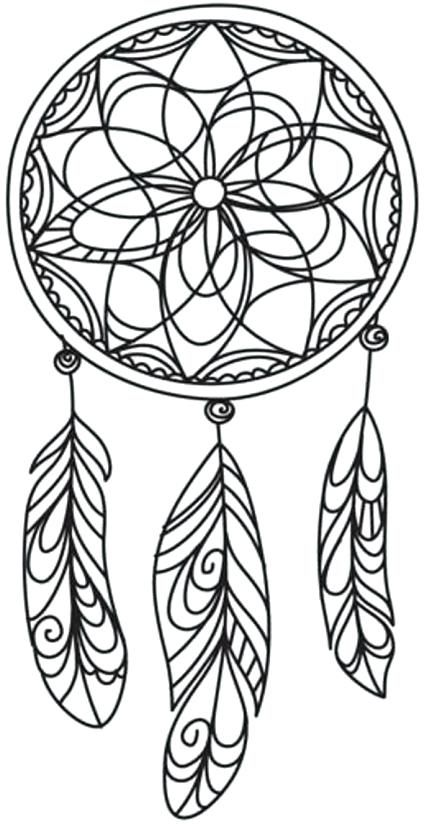 Dream Catcher Coloring Pages #mandala