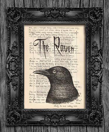 Edgar Allan Poe The Raven Poem... his first draft of his