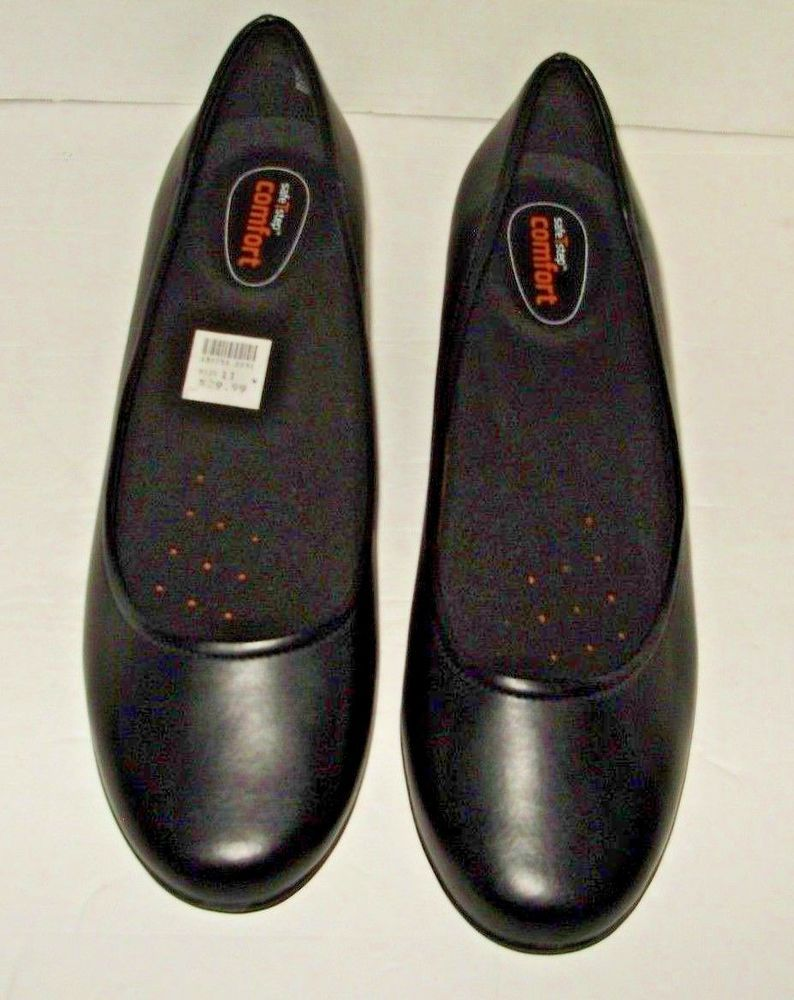 Safe T Step Womens Black Shoes Heels Size 11 Wide New